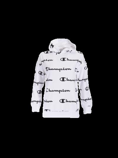 Otroški pulover s kapuco Champion 305179 PRINT - bel