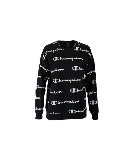 Otroški pulover Oversize Champion PRINT 305180 - črn