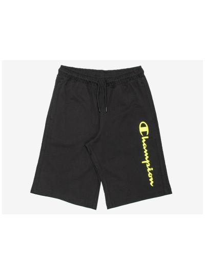 Fantovske bermuda hlače Champion® 305197 - črne/fluo