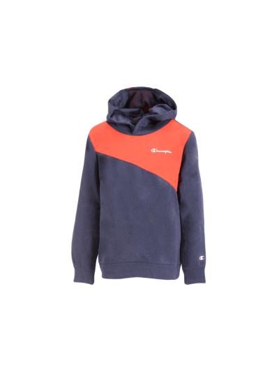 Otroški pulover s kapuco Champion® 90 BLOCK - navy / rdeč