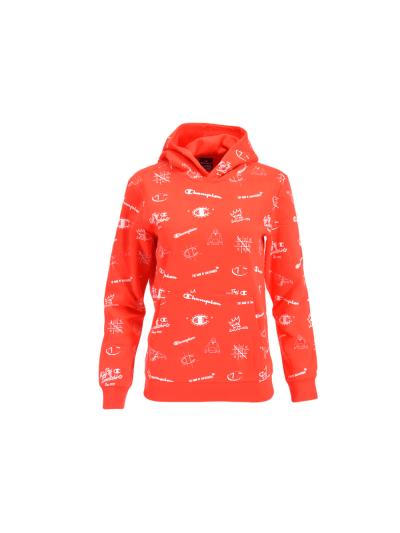 Otroški pulover s kapuco Champion® PRINT 305400 - rdeč