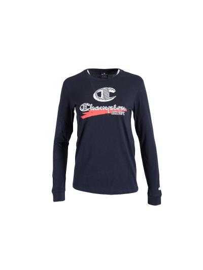 Otroška majica z dolgimi rokavi Champion 305443 - navy