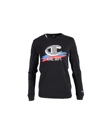 Otroška majica z dolgimi rokavi Champion 305443 - črna