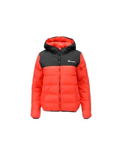 Otroška jakna s kapuco Champion OUTDOOR 305454 - rdeča / črna