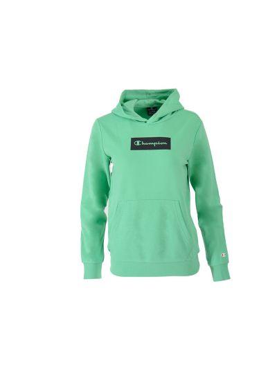 Otroški pulover s kapuco Champion AMERICAN PASTELS 305651 - pastelno zelen