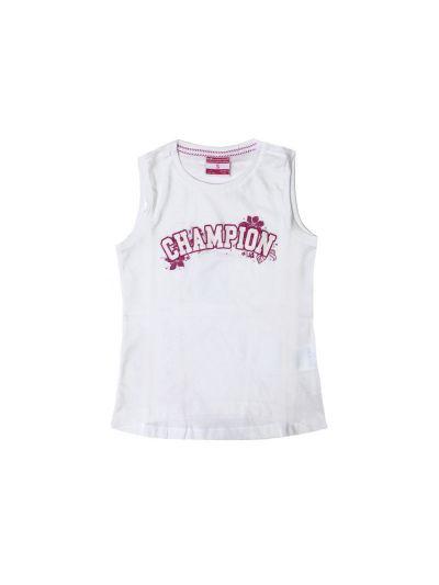 Dekliška majica Champion 402887 brez rokavov bela WHT