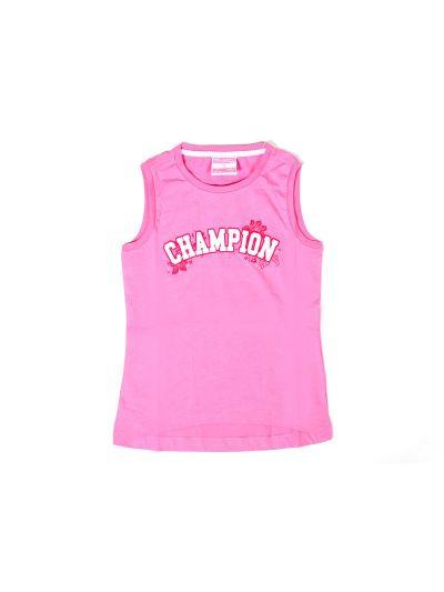 Dekliška majica brez rokavov Champion 402887 roza DPI