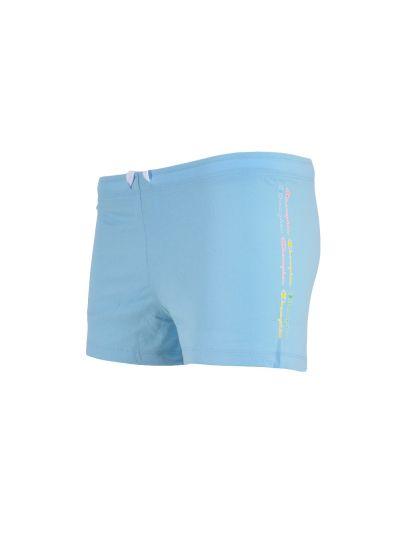 Dekliške kratke hlače Champion COLOR & LOGO 403134 - pastelno modre
