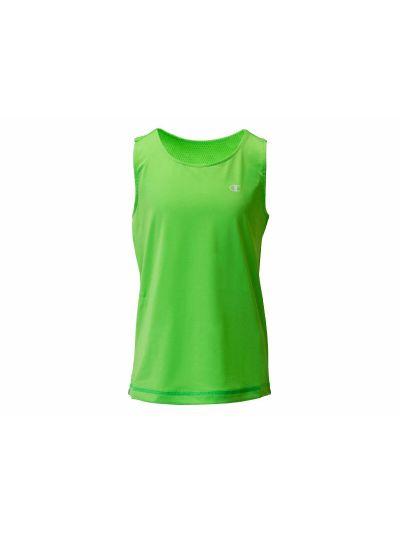 Dekliška športna majica Champion® 403357 brez rokavov - fluoroscentno zelena GGEF