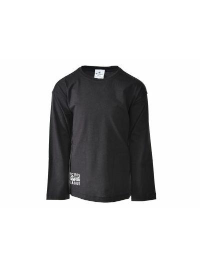 Dekliška majica Champion® 403460 dolg rokav črna NBK