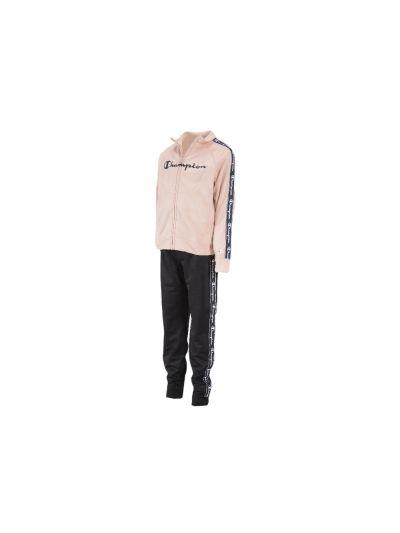 Dekliški komplet Champion® 403702 jopica, dolge hlače - pastelno roza/črna