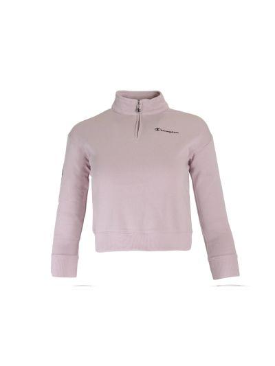 Dekliški pulover Champion® s pol zadrgo 403746 - pastelno roza