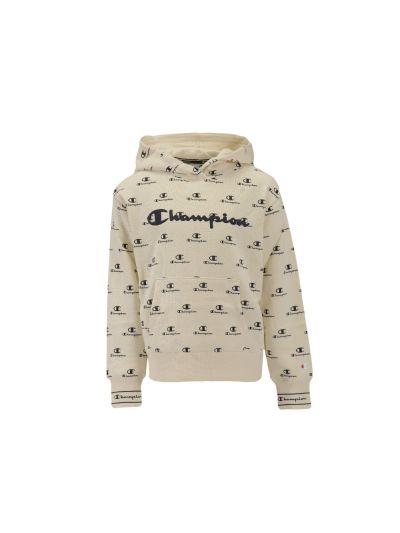 Dekliška pulover Champion® s kapuco 403751 - bež / print