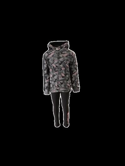 Dekliški komplet temno siv/roza 403756