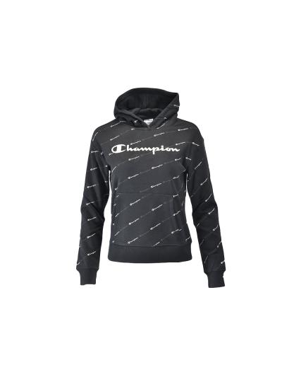 Dekliški pulover s kapuco Champion® PRINT 403915 - črn
