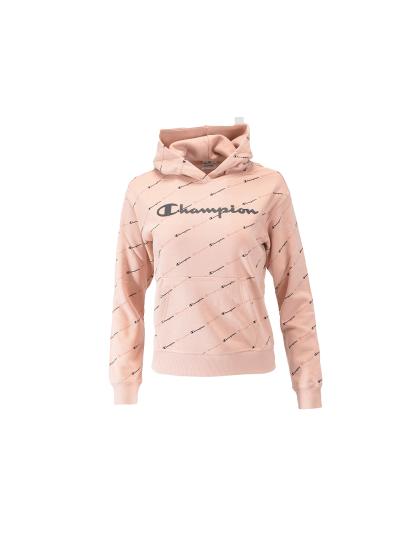 Dekliški pulover s kapuco Champion® PRINT 403915 - pastelno roza