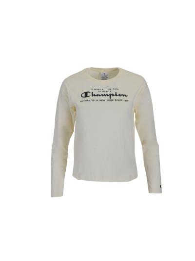 Dekliška majica z dolgimi rokavi Champion 403929 - bež