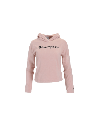Dekliški pulover - velur s kapuco Champion 404016 - pastelno roza