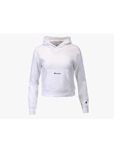 Dekliški krajši pulover s kapuco Champion 404078 - bel
