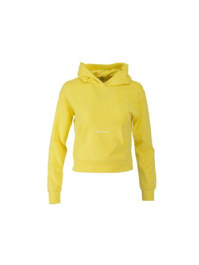 Dekliški krajši pulover s kapuco Champion 404078 - rumen