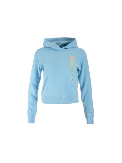 Dekliški krajši pulover s kapuco Champion 404128 - pastelno moder