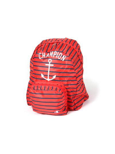 Otroški nahrbtnik Champion 803901 rdeč z modrimi črtami FIR
