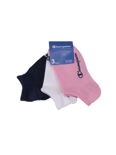Otroške nogavice Champion® 804577 3 pari - roza/bela/modra