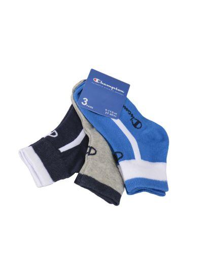Otroške nogavice Champion® 804579 3 pari - modra/siva/navy