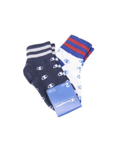 Otroške nogavice Champion® 804580 2 pari - modra/siva/navy