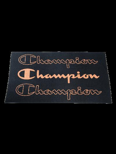 Velika brisača za na plažo Champion® 804856 - črna/oranžna