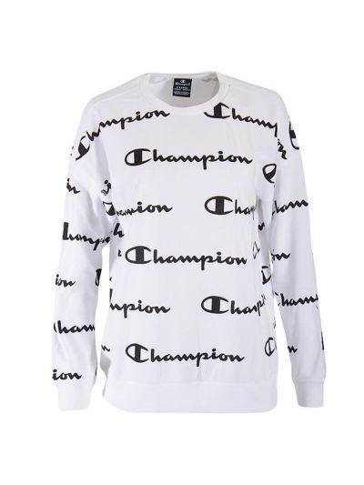 Otroški pulover Oversize Champion PRINT 305180 - bel