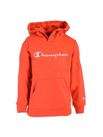 Otroški pulover s kapuco Champion 305163 - oranžen