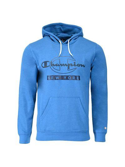 Moški pulover s kapuco Champion ® NEW YORK 216603 - moder