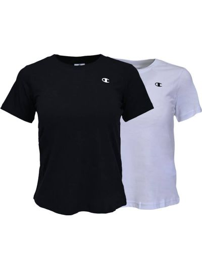 Komplet dekliških majic kratek rokav Champion ® 404237 - bela / črna
