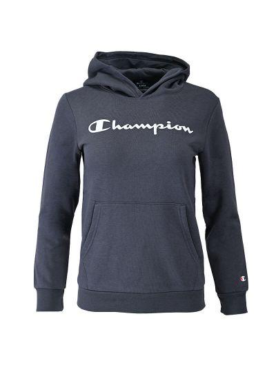 Otroški pulover s kapuco Champion 305358 - temno siv
