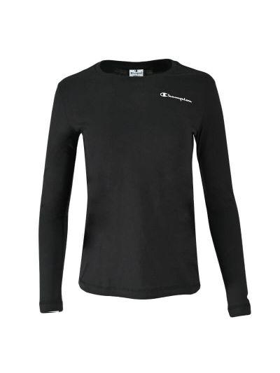 Ženska športna majica dolg rokav Champion 114711 - črna
