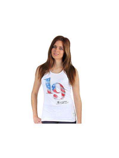Ženska majica brez rokavov Champion® C108128  - Bela
