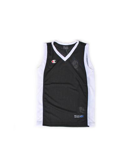 Otroški košarkaški zgornji del Champion® C702127 črn NBK/WHT