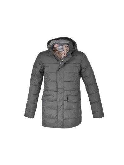 Moška jakna s kapuco Champion® 211422 daljša črna NBK