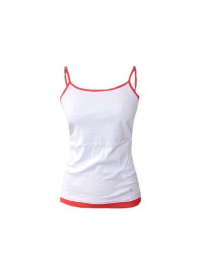 Ženska majica brez rokavov Champion® C107107WHT/PNR - bela