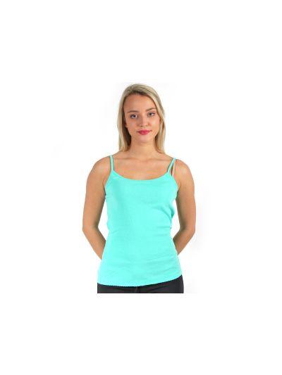 Ženska majica brez rokavov Champion C107848 turkizna CCK