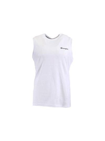 Moška majica z ovratnikom Champion® brez rokavov bela
