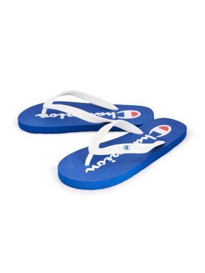 Moški / otroški sandali na prst - japonke Champion® -S20604- modre/bele RBL