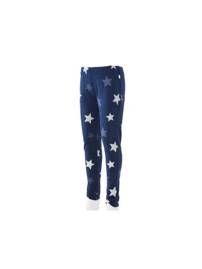 Dekliške športne leggins (pajkice) hlače Champion® 403307 - modre z zvezdami