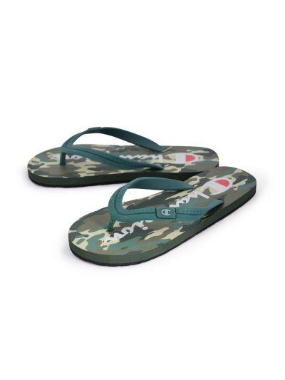 Moški / otroški sandali na prst - japonke Champion® -S20604- kamo MYG CAMO
