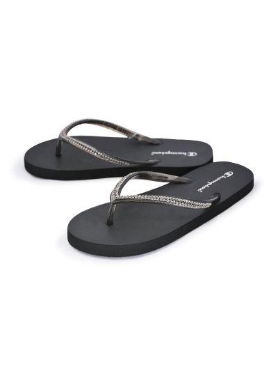 Ženski / dekliški sandali na prst - japonke Champion® S10441 PEARLY črne NBK