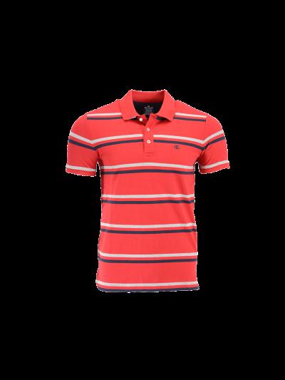 Moška polo majica Champion® - rdeča s črtami
