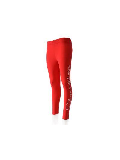 Ženske dolge hlače - pajkice (leggings) Champion® 110947 napis rdeče BYR