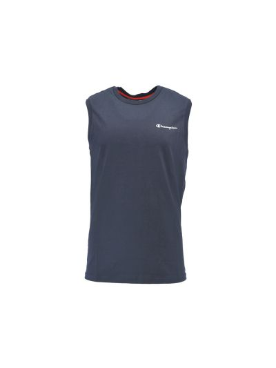 Moška majica z ovratnikom Champion® brez rokavov navy
