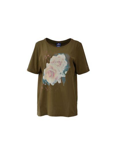 Ženska T-Shirt majica (klasika) Champion® 110695 kratek rokav print olivna BEC